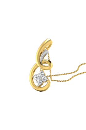 SPARKLES His & Her Collection 9 Kt Pendants In Gold And Real Diamond 0.06 Cts HHP50022-9KT