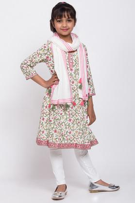 BIBA GIRLS - White Salwar Kurta Set - 3