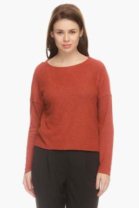 ONLY Womens Round Neck Printed Pullover