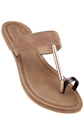 HAUTE CURRY Womens Slipon Flat Sandal