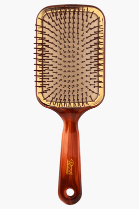 ROOTS Golden Rim Shell Finish Paddle Hair Brush- RTS39