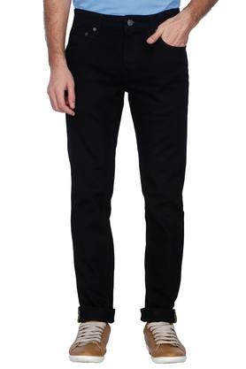 INDIAN TERRAIN Mens Slim Fit Coated Jeans