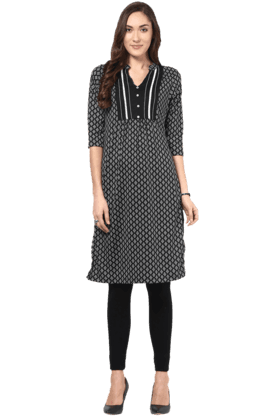 FUSION BEATS Womens Printed Kurta - 200991373