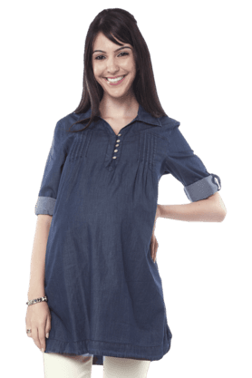 NINE MATERNITY Maternity Denim Tunic