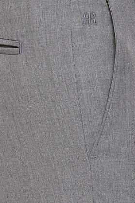 RAYMOND - Grey Formal Trousers - 4