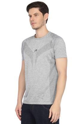 Mens Round Neck Slub Sports T-Shirt