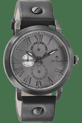 TITANMens Grey Dial Watch 90049Ql02J