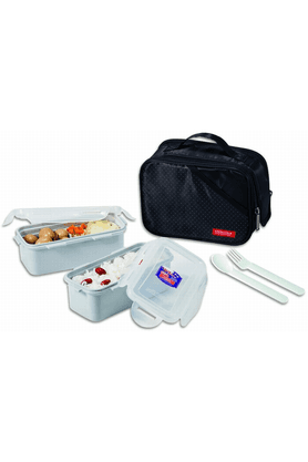 LOCK & LOCKLunch Box Set With Black Bag - Spoon And Fork (Set Of 2)