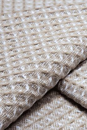 MASPARWaffle Beige Kitchen Towels - Set Of 6
