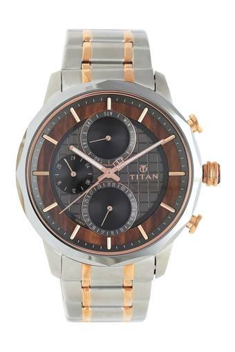 Mens Grandmaster Two Tone Dial Metallic Multi-Function Watch - 1789KM01