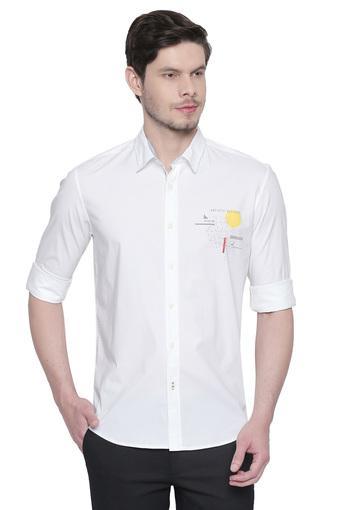 BASICS -  WhiteCasual Shirts - Main