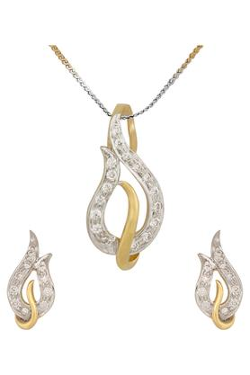 WAMAN HARI PETHEWomens Aabha Collections Diamond Pendant Set DLTSD16003263