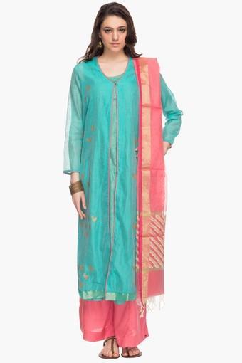 421c5800df1 Buy BIBA Womens Round Neck Embroidered Palazzo Suit