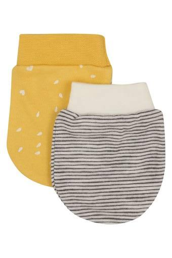 Kids Printed and Striped Mittens - Pack of 2