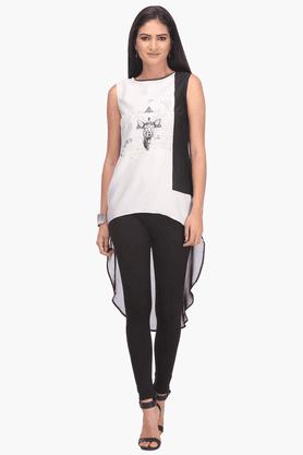 WWomens Printed Sleeveless Top