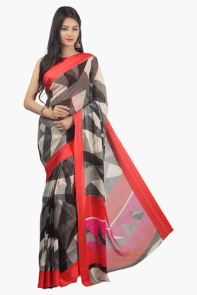 JASHN Womens Printed Saree - 201502613