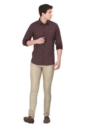 Mens 4 Pocket Printed Trousers