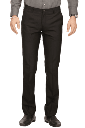 BLACKBERRYS Mens Flat Front Slim Fit Solid Formal Trousers - 200294140