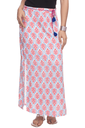HAUTE CURRY Womens Printed Maxi Skirt