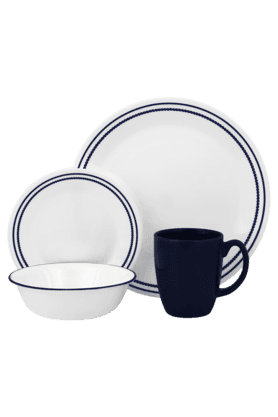 CORELLE Breathtaking Blue Beads - Dinner Set (Set Of 16)