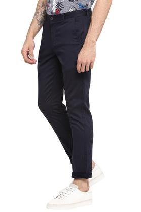Mens 4 Pocket Self Printed Chinos