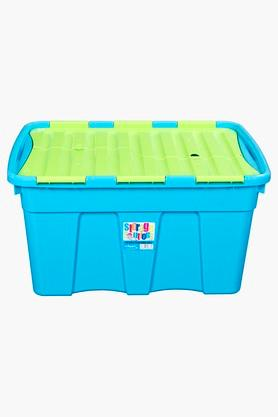 WHATMORE Portable Storage Basket With Foldable Lid - 54 Lts
