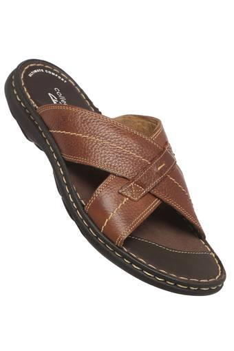 CLARKS -  Brown Mix Slippers & Flip Flops - Main