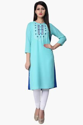 JUNIPER Women Embroidered Kurta - 201932801