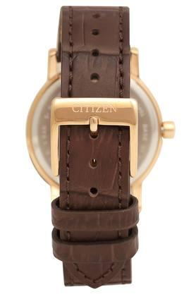 Womens Mother of Pearl Dial Leather Analogue Watch - EQ9063-04D