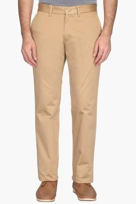 Mens Regular Fit 4 Pocket Solid Chinos (Kansas Fit) - 202069948
