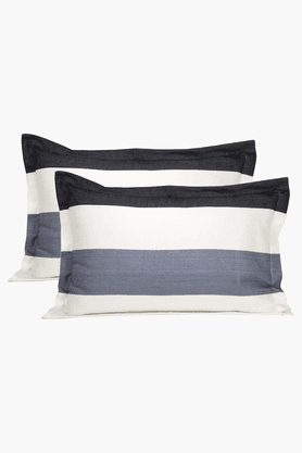 MASPAREthereal Spaces Alternative Stripe Grey Pillow Cover - Set Of 2