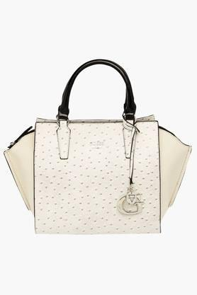 GUESSWomens Manning Zipper Closure Tote Handbag