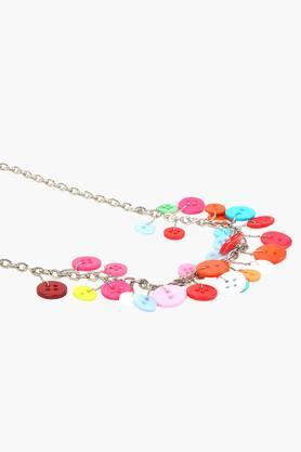Girls Button Necklace (3 Years +)