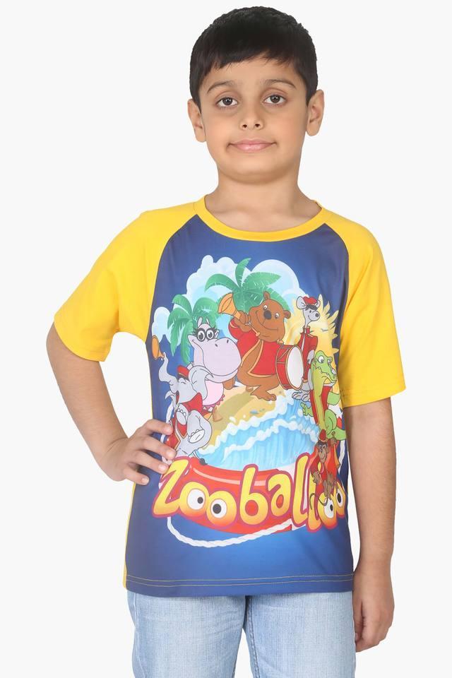 Character Printed Boy's Raglan T-shirt