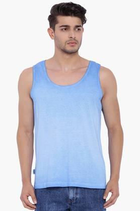 BLUE SAINTMens Blue Solid Vest