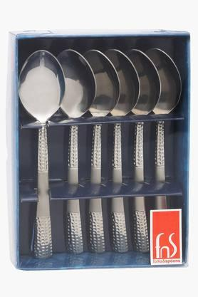 Zest Embossed Tea Spoon Set of 6