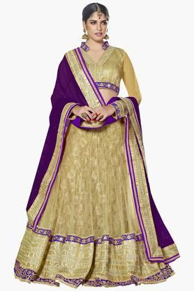 MAHOTSAV Womens Embellished Semi-stitched Lehenga Choli - 201643953