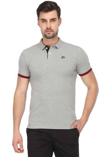 BEING HUMAN -  Grey T-Shirts & Polos - Main