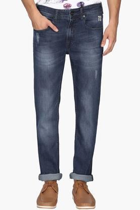 PEPEMens Slim Fit 5 Pocket Heavy Wash Jeans (Vapour Fit)