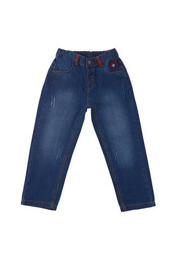 Boys Slim Fit Distressed Jeans