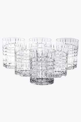 NACHTMANNSquare Whisky Glass Set Of 6 - 345 Ml