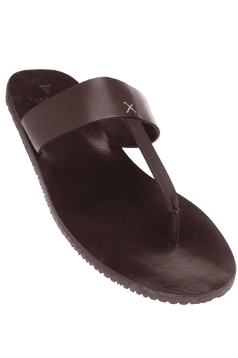 ab79e6864641 Buy VAN HEUSEN Mens Leather Chappal | Shoppers Stop