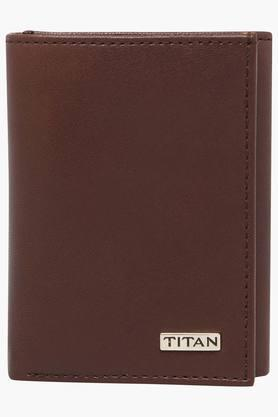 TITAN Mens Leather 2 Fold Wallet - 202100729