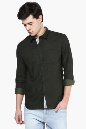 Numero Uno Formal Shirts (Men's) - Mens Full Sleeves Casual Slub Shirt