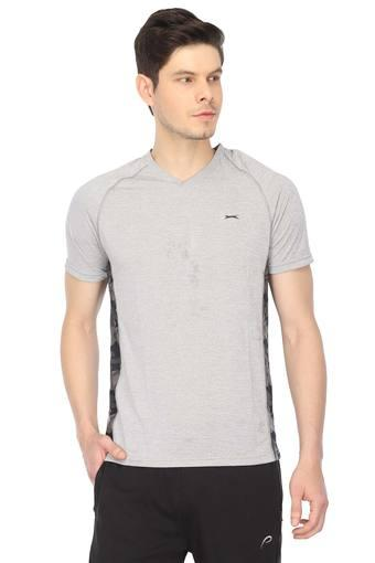 Mens V Neck Striped T-Shirt