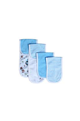 Kids Striped Solid and Printed Burpy Wipe Set of 4