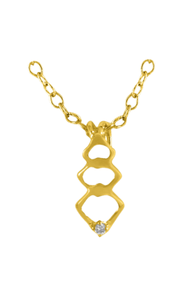 SPARKLESHis & Her Collection 18 Kt Pendant In Gold & Real Diamond HHPXP8994