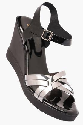 LIFE Womens Casual Wear Buckle Closure Wedges