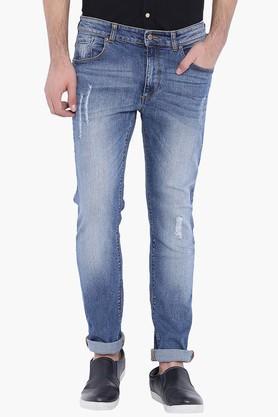 BLUE SAINTMens Blue Rip Jeans