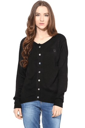 THE VANCA Women Wool Acrylic Cardigan